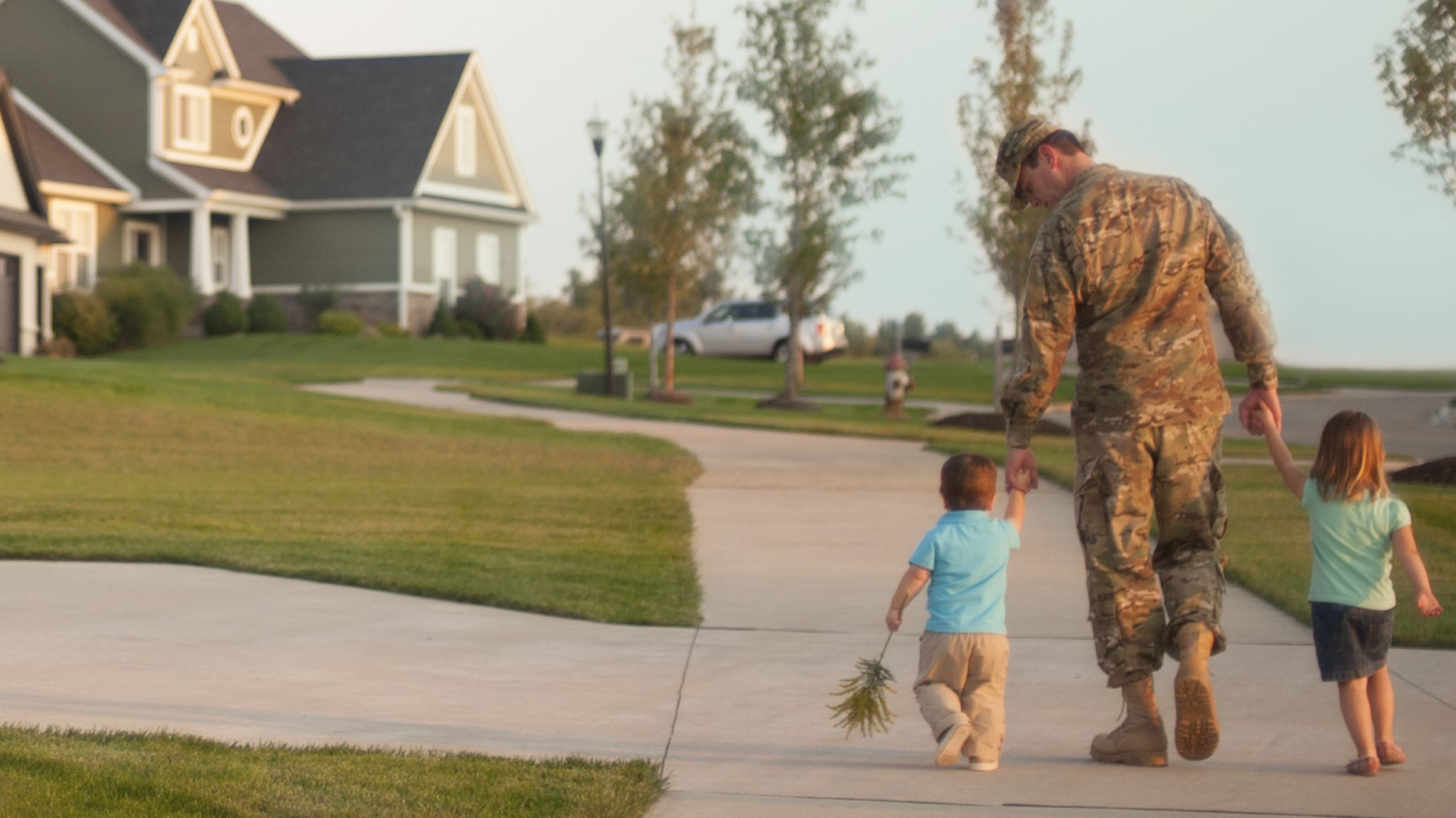 Veteran with boy